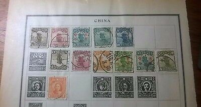 China Collection 12 Stamps 1935 Scott Modern Stamp Album Chinese