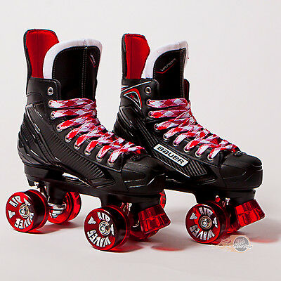 Bauer Quad Roller Skates - Vapor X300 S17 - 2017 Model -  Red Airwaves