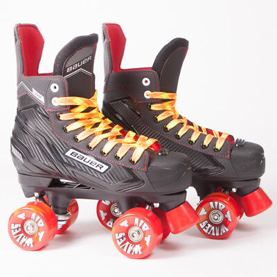 Bauer Quad Roller Skates - NS - 2018 Model -  Orange Airwaves