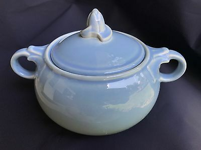Vintage Lu-Ray Pastels Sugar Bowl w/Lid - Blue - Great Condition