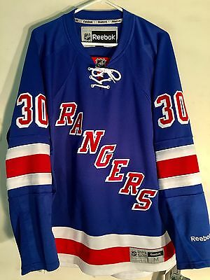 NHL New York Rangers Henrik Lundqvist Premier Ice Hockey Shirt Jersey