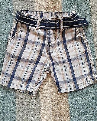 h & m shorts with belt size 12-18 months