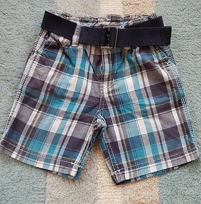 h & m shorts with belt size 6-9 months