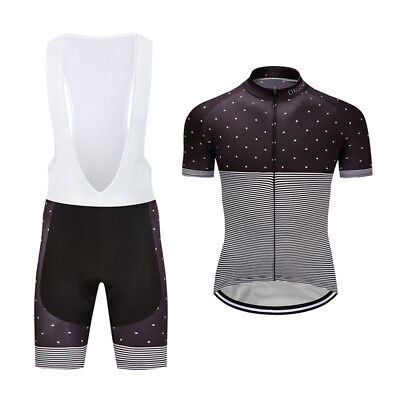Bike Riding Mens Cycling Jersey Bib Shorts Sets Shirt Brace Pants Suits Striped