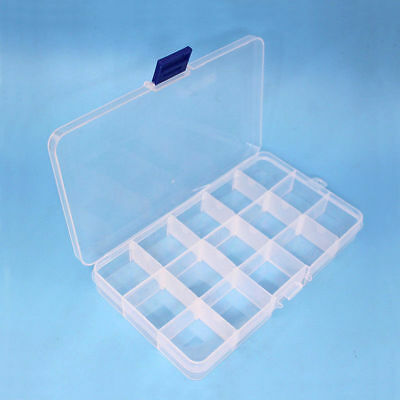 15 Grids Plastic Electronic Components Assortment Storage Box Fishing Lure Case