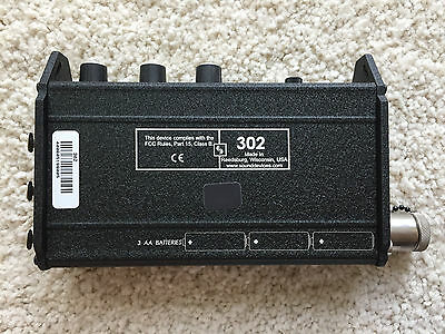 Sound Devices 302 Compact Production Field Mixer Great Condition!!!