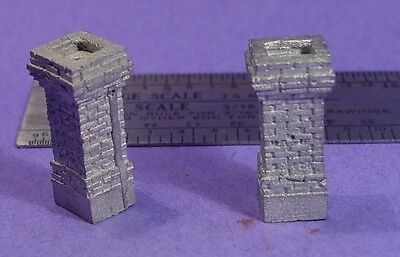 S SCALE Sn3 1/64 WISEMAN MODEL SERVICES DETAIL PARTS: S375 SHORT BRICK CHIMNEYS