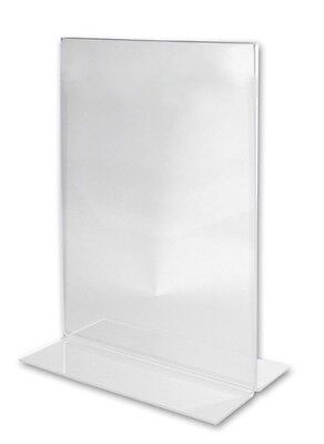 2x A3 Double Sided Sign  Holder Acrylic Retail Display Stands Menu Restaurant