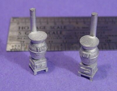 S SCALE Sn3 1/64 WISEMAN MODEL SERVICES DETAIL PARTS: S384 POT BELLY STOVES