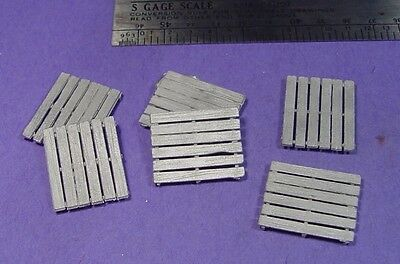 S SCALE Sn3 1/64 WISEMAN MODEL SERVICES DETAIL PARTS: S393 WOOD FREIGHT PALLETS