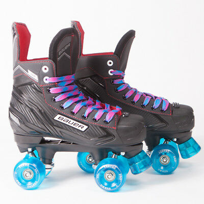 Bauer Quad Roller Skates - NS - 2018 Model -  Light Blue Ventros