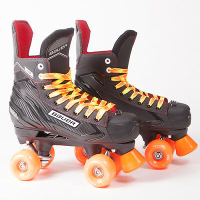 Bauer Quad Roller Skates - NS - 2018 Model - Orange Ventro Wheels