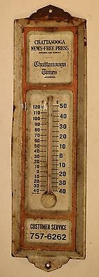 Vintage Chattanooga Times Chattanooga News Free Press Newspaper Thermometer
