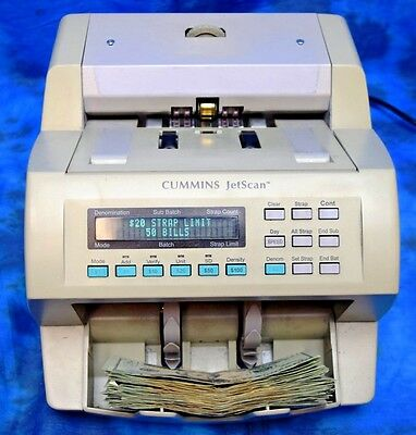 Cummins Jetscan Currency Counter Model 4062 * Tested * Counts Mixed Bill * 2-4