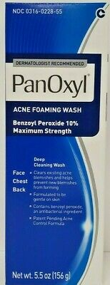 Panoxyl Benzoyl 10% Foaming Acne Face Wash 5.5oz -Expiration Date 08-2019-
