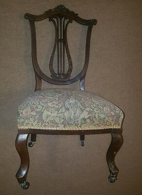 Lyre Harp vintage georgian 1930s antique nursing nursery parlour bedroom chair