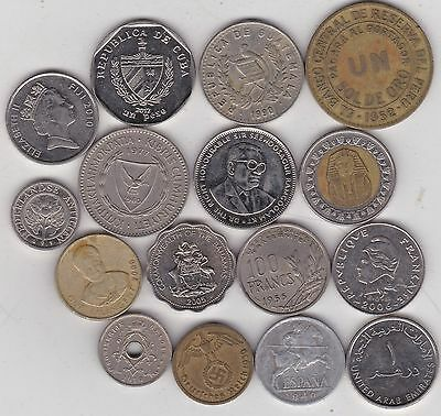 16 Mixed World Coins In Very Fine Or Better Condition
