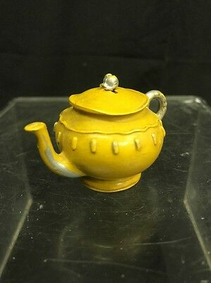 Vintage Figural Celluloid Teapot Sewing Tape Measure, Working Condition