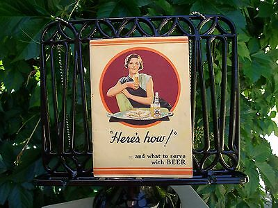 Vintage 1934 Hamm's Beer Book How & What to Serve with Beer Rare Find