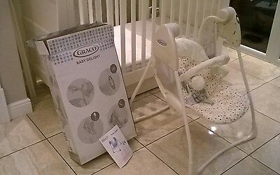 GRACO baby swing chair, with box and instructions