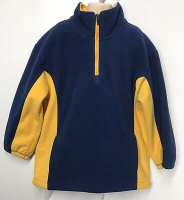 Boy's Athletic Works Fleece Pullover Sweater 6/7 Half Zip 100% Polyester