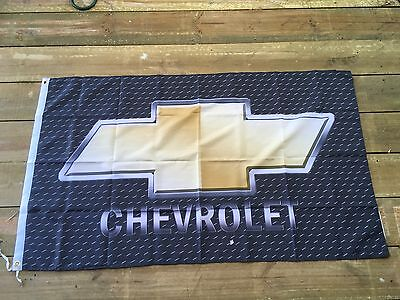 Chevy GMH Chevrolet 5x3 foot Man cave pool room flag not a tin or enamel sign
