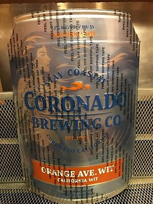 CORONADO BREWING Mermaid Logo ~ California Wit ~ RARE ~ 3D Beer Tacker Ad Sign