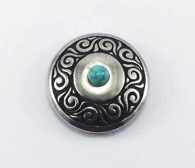 10X Western Turquoise Silver Concho Screw Back Saddle Solid Rivet Leather Crafts