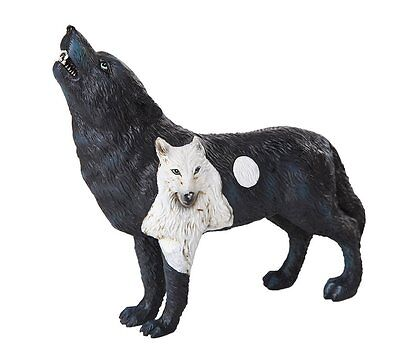 The Wolf Spirit Collection Dark Moonlit Night Black Wolf Spirit Figurine
