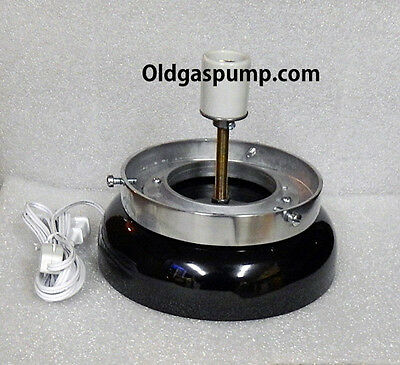 Gas Pump Globe Black Lighted Lamp Base GD-103B