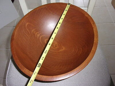 Vintage Huge Wooden Made In Woodcroftery America Bowl  Nice Large Wood Bowl