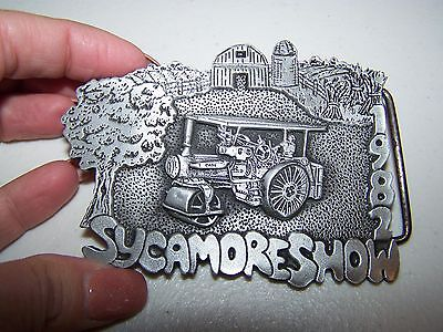 Vintage 1982 Sycamore Show Limited Edition #208 pewter belt buckle!!