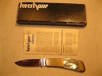 Vintage Kershaw KaiCutlery Japan #5300 Mother of Pearl Knife w/ Box/ Papers- New