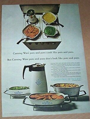 1965 vintage print ad - Corning Ware cookware Glass Works advertising PAGE