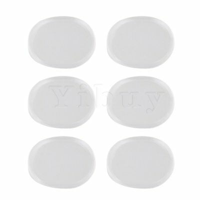 Yibuy 3.3x2.5cm Silicone Rock Band Drum Mute Pads Set of 6 Blue