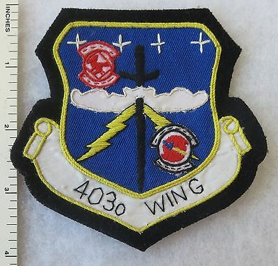 403rd WING US AIR FORCE PATCH Custom Hand Sewn for VETERANS