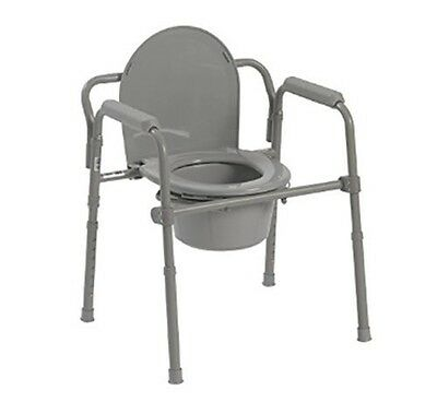 Drive Medical Steel Folding Bedside Commode ** Brand NEW **