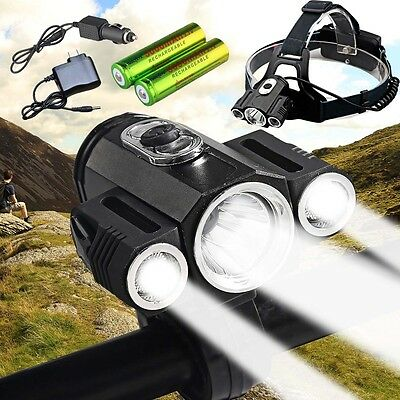 2in1 CREE XML T6 LED 35000Lm  Front Bicycle Lamp Bike Headlight Flashlight Torch