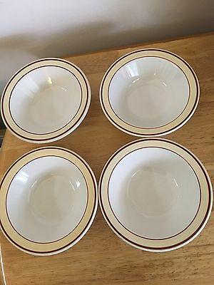 Homer Laughlin Soup/ Cereal  Bowls...Almond Pattern..x4