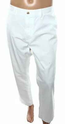 NEW Polo Ralph Lauren White Mens Size 38x32 Classic-Fit Casual Pants $85 990
