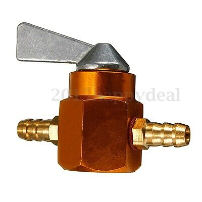 Universal Motorcycle Dirtbike In Line 6Mm On Off Petrol Fuel Tap Shut Off Gold