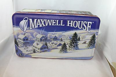 MAXWELL HOUSE CHRISTMAS HOLIDAY ROAST COLLECTIBLE TIN LATE 90s VERY CLEAN
