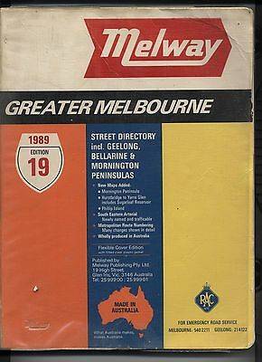 Melway Street Directory Edition 19 1989