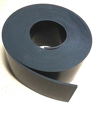"Neoprene Sheet Rubber Strip 1/8"" Thk x 4"" W x 30 Foot 1-pc Roll 60 Duro"