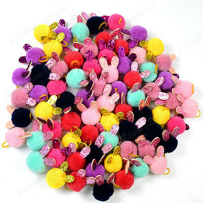 """Pet Puppy Dog Cat Hair Bows Pompom Rabbit/Bunny Ears Dog Hair Accessories 0.98"""""""