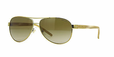 NWT Ralph Ralph Sunglasses Lauren RA 4004 10113 Gold Cream / Brown 59MM 101/13