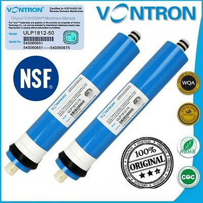 VONTRON 50 75 100 GPD ORIGINAL Reverse Osmosis RO Membrane Water Filter System