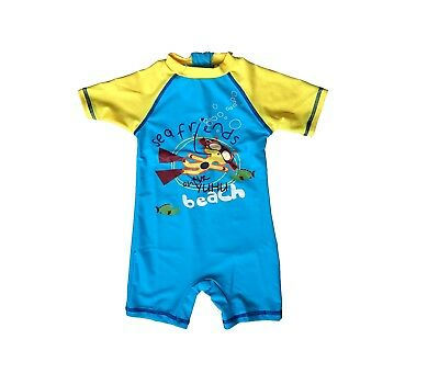 Baby Boy Toddler Zip-up All-In-One UV Sun Protection Swim Suit UPF 50+ Rating