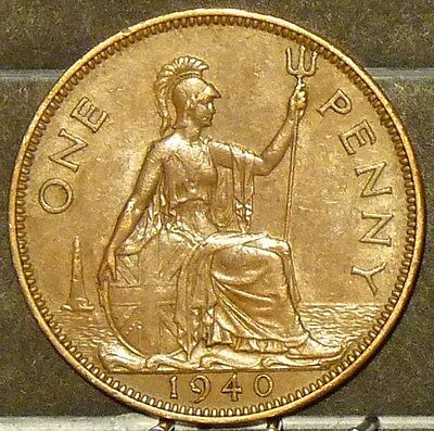 1940 Great Britain Large Penny  Coin     F83
