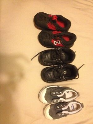lot of 3 baby size 5 shoes nike shox keds under armour